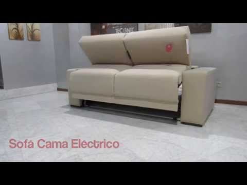 La nube sof s sof cama el ctrico youtube for Sofa cama con arcon