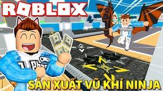 Roblox | XÂY NHÀ MÁY SẢN XUẤT VŨ KHÍ NINJA CÙNG VAMY ĐIẾM THÚI - 🥋 2 Player Ninja Tycoon | KiA Phạm