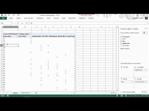 Excel for Business Tutorial | Analyzing Demographics