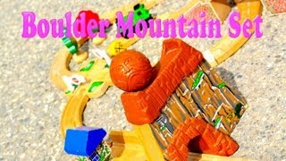 Thomas The Tank Engine - Mountain Boulder Playset - Wooden Railway Toy Train Review By Fisher Price