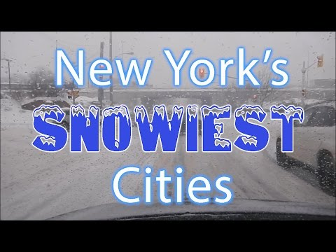 These Are The 10 SNOWIEST CITIES In NEW YORK