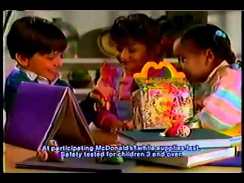 McDonalds 1988 Commercial Fragle Rock Kid's Meal - YouTube