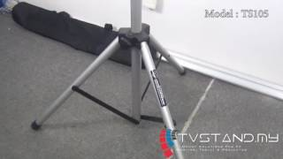 Full Review   Light Weight & Portable TV Stand Tripod Legs with Cover TS105