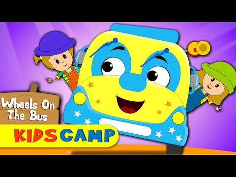 Wheels On The Bus Go Round And Round | Popular Rhymes from Kidscamp