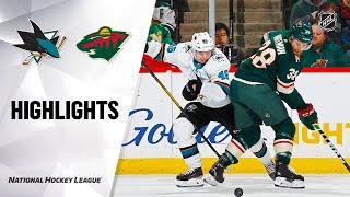 NHL Highlights | Sharks @ Wild 02/15/20