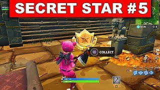 SECRET BATTLE STAR WEEK 5 SEASON 6 LOCATION! - Fortnite Battle Royale (Hunting Party Challenges)