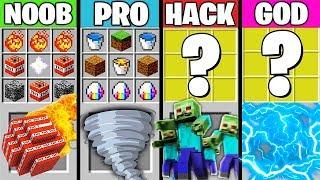 Minecraft Battle : APOCALYPSE CRAFTING ! NOOB vs PRO vs HACKER vs GOD in Minecraft Animation