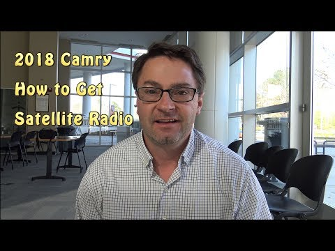 2018 Camry - How to Get Satellite Radio