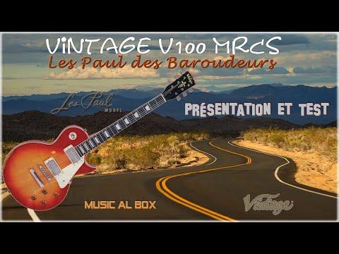 Vintage Icon V100 MRCS Les Paul des Baroudeurs, taillée pour la scène. #Vintageguitars