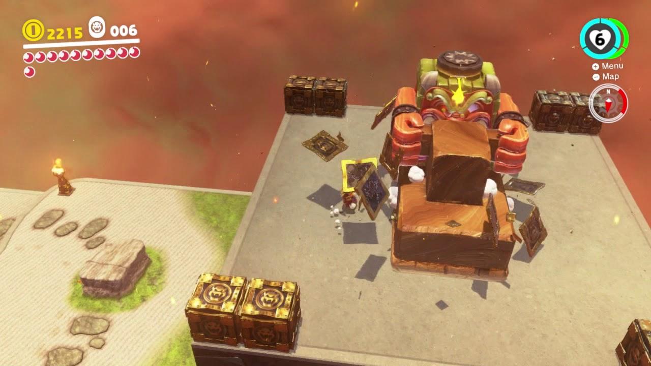 Super Mario Odyssey Bowser S Kingdom Moon 16 Exterminate The