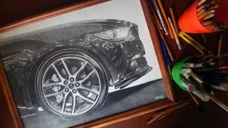 FORD MUSTANG GT 2015 フォード マスタング DRAWING REALISTIC ISP SUPERCAR