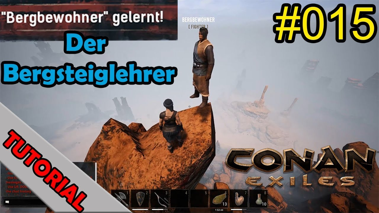 Conan Kletterausrüstung : Conan exiles der bergsteiglehrer tutorial let s play