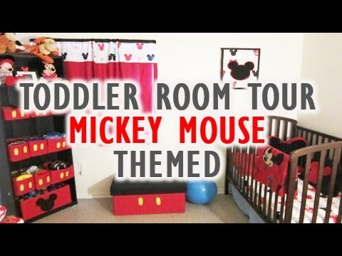 Toddler Room Tour: Mickey Mouse themed (Vlog #30) - YouTube