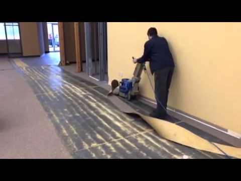 National Floor Stripper In Action YouTube - Wolff floor scraper