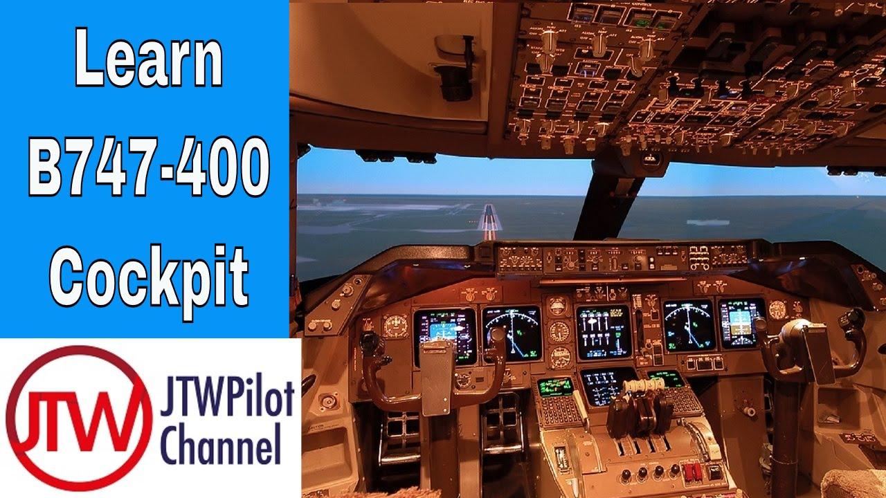 boeing 747 400 cockpit overview [ 1280 x 720 Pixel ]