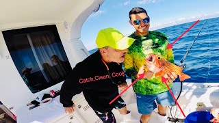 Deep drop fishing for Black Belly Rosie's in Miami Florida CatchCleanCook