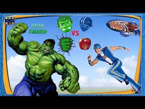 ZIGGY LAZY TOWN CHALLENGE:  Sportacus vs Hulk Smash ( Special Episode )