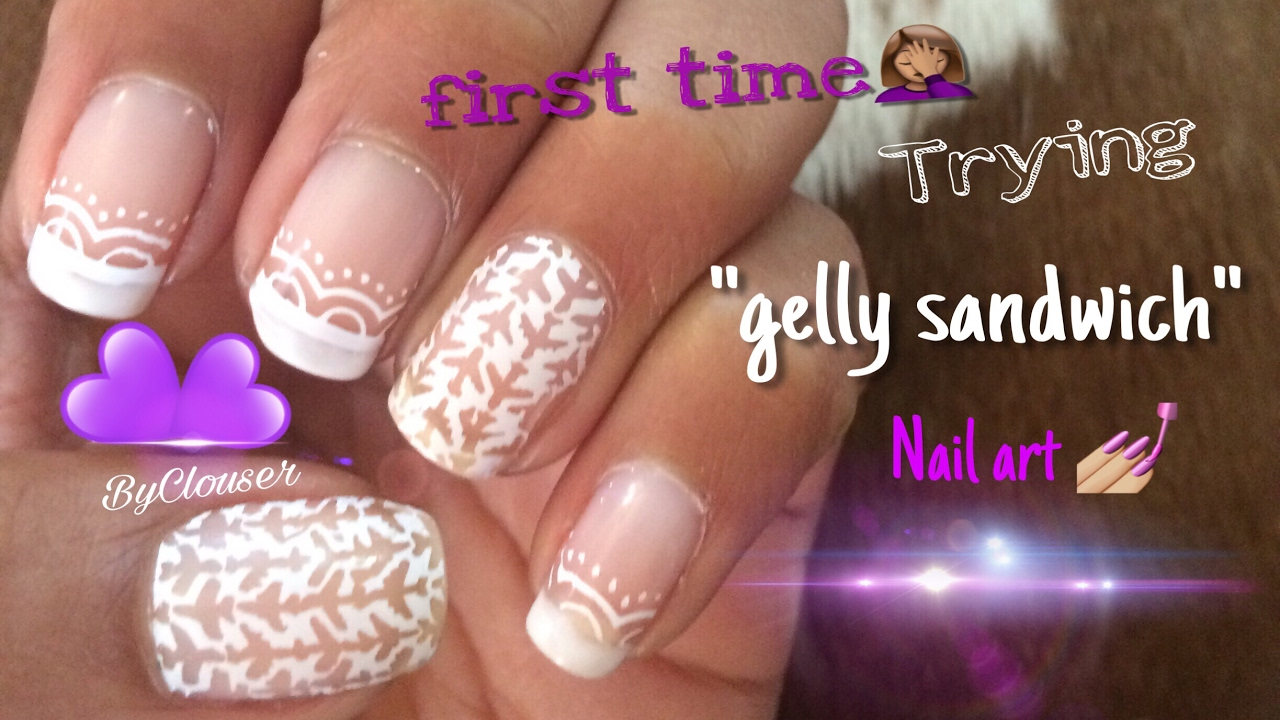 Gelly Sandwich Nails Airplane Nail Art Byclouser Youtube