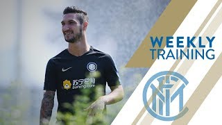 FROSINONE vs INTER | WEEKLY TRAINING | Shooting challenge and a stunning goal from Politano!