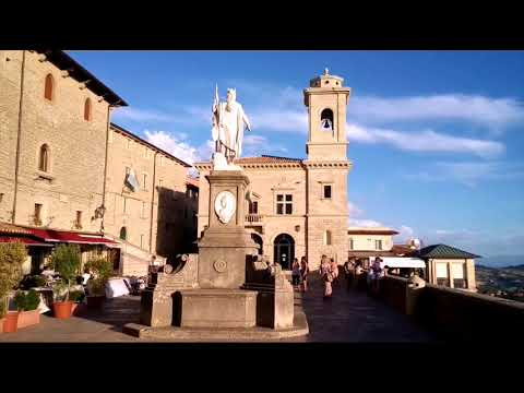 San Marino Medieval Fortress with Towers on Mount Titano