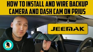 HOW TO INSTALL AND WIRE BACKUP CAMERA AND DASH CAM ON PRIUS
