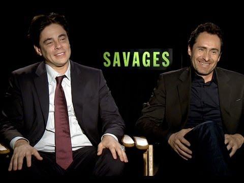 Benicio Del Toro and Demián Bichir talk 'Savages'