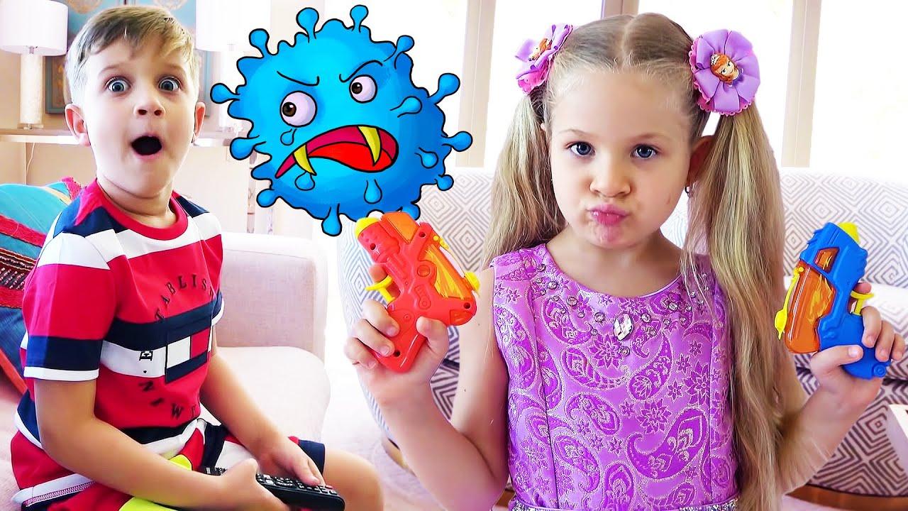 डायना और बच्चों के साथ वायरस की कहानी