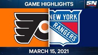 NHL Game Highlights   Flyers vs. Rangers – Mar. 15, 2021