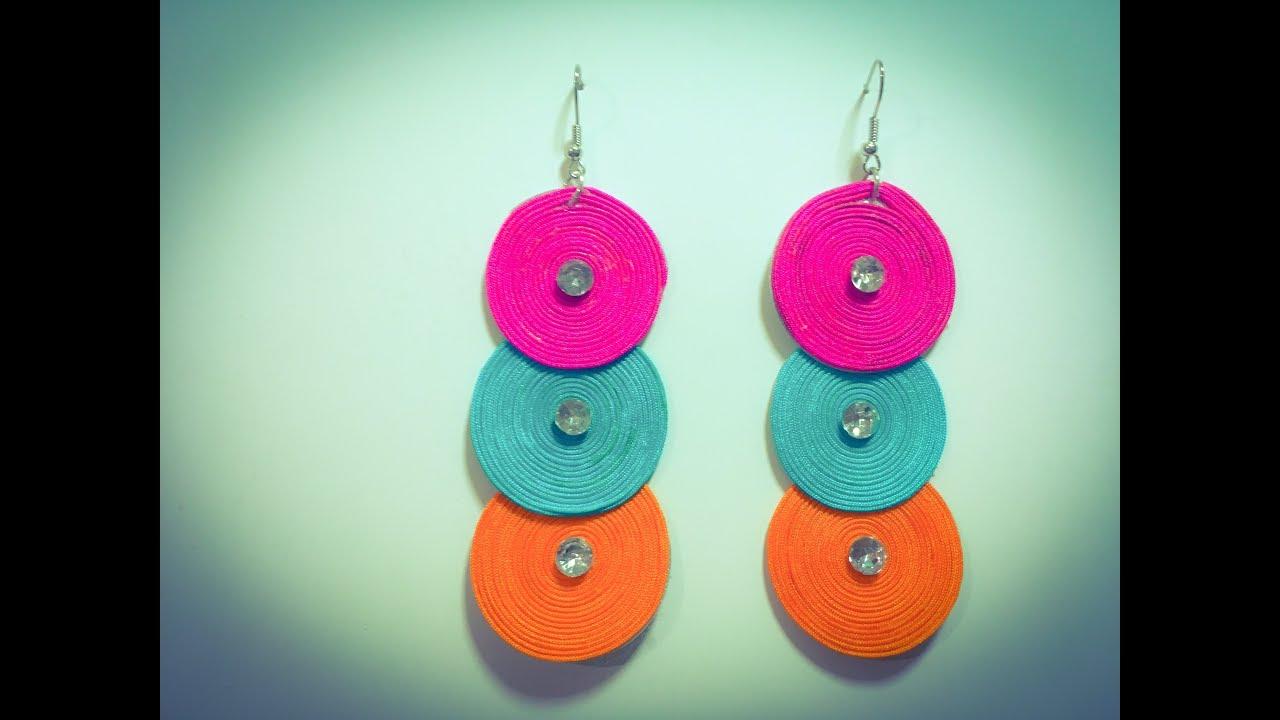 طريقة سهلة لعمل حلق بلخيوط الملونة