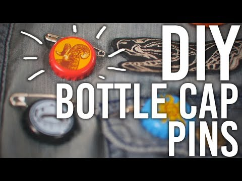 How to Make : Bottle Cap Pins!