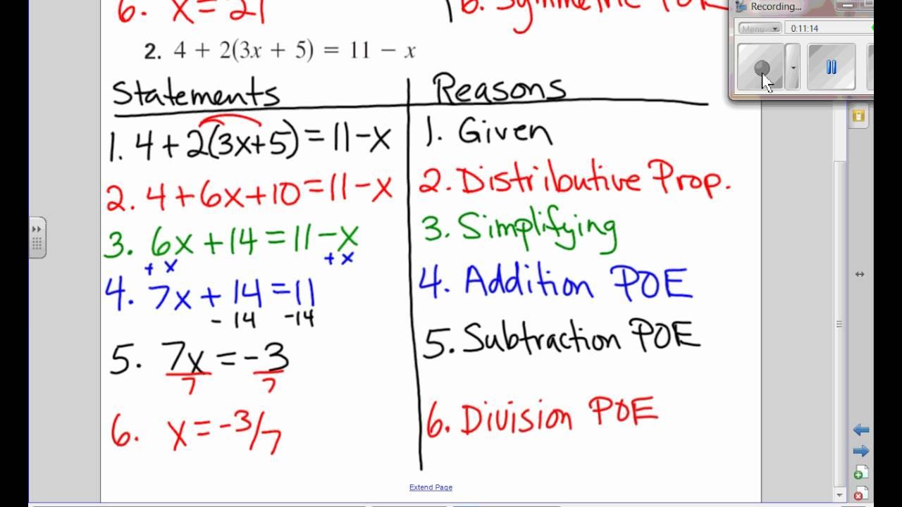 Algebra Proofs