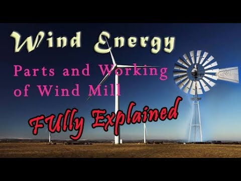 Wind turbine parts and functions in hindi│Wind mill explained│Simply  Electrical