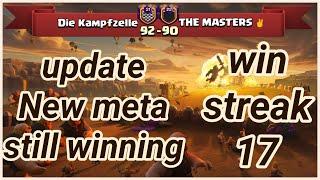 win streak 17 Die Kampfzelle vs THE MASTERS ✌️ | war recap | best of 3 star | COC clash of clans 201