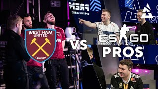 West Ham vs CS:GO Pros in REACTION TEST feat. Zywoo, Magisk & K0nfig