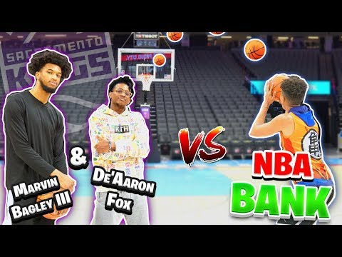 Funny NBA BANK Basketball vs. De'Aaron Fox & Marvin Bagley III