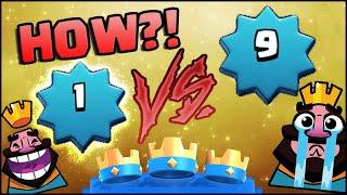 Level 1 BEATING Level 9! HOW?! Clash Royale
