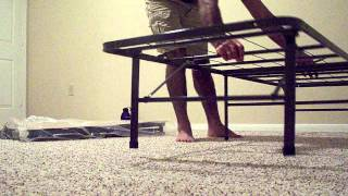 How to assemble a bed(I bought this Spa Sensation steel bed frame from Walmart.com. It is very sturdy and nice to support any mattress. I have my 8