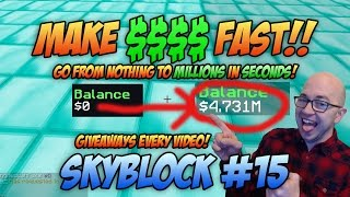 THIS MAKES MORE MONEY THAN IRON GOLEMS! (Minecraft Skyblock)