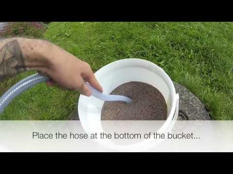How to clean your aquarium sand