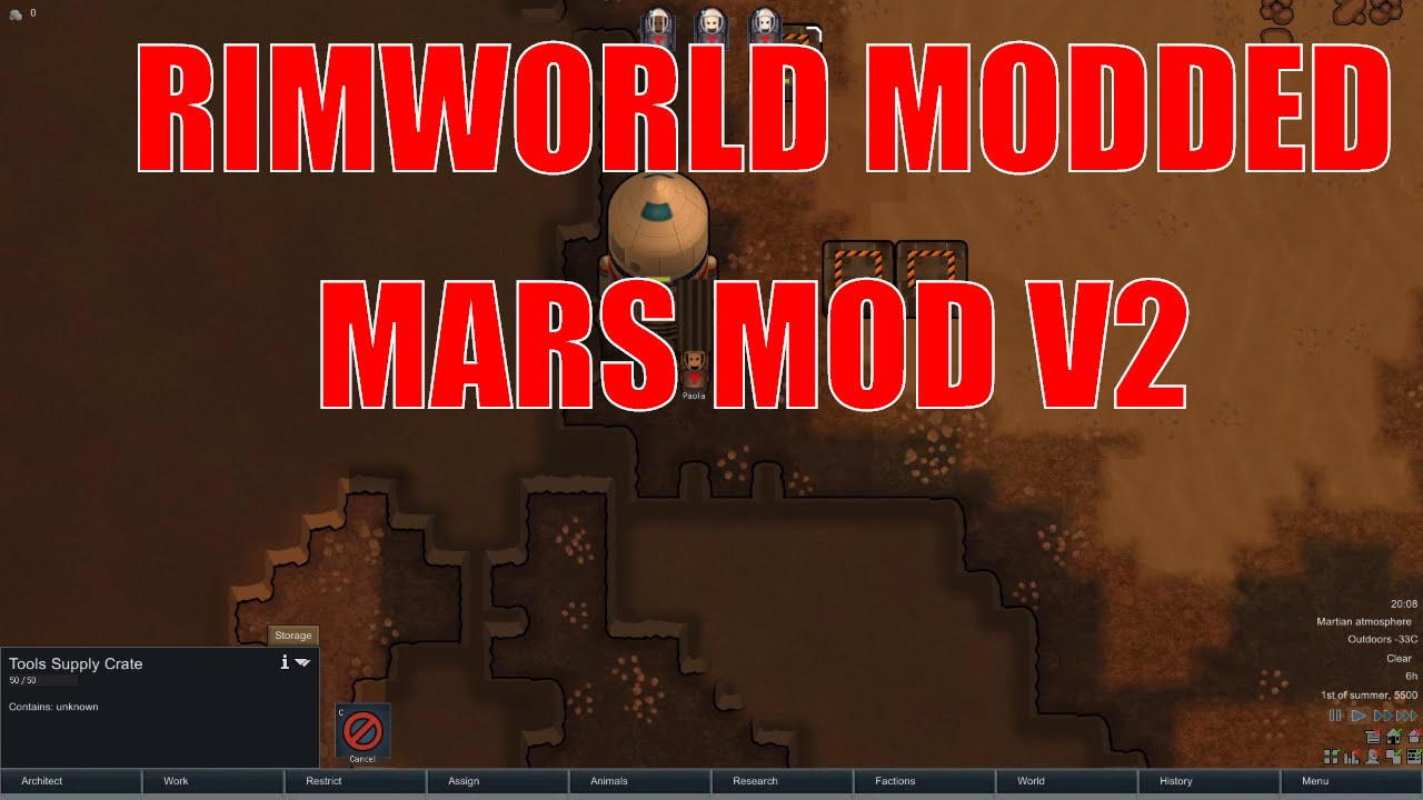 Rimworld alpha 15 mars v2 mod - Stranded on mars - Rimworld a15 modded  let's play