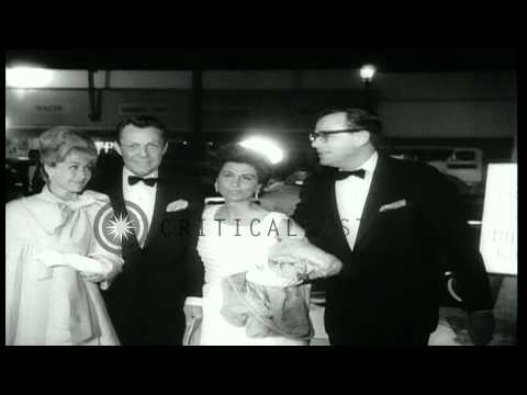 Hollywood celebrities arrive for the premier of movie 'The Chalk Garden' in Holly...HD Stock Footage