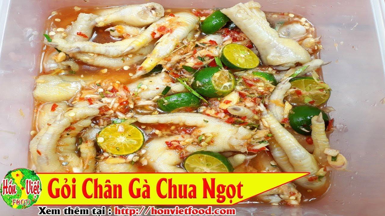 ✅ GỎI CHÂN GÀ CHUA NGỌT Cực Ngon – Cực Đã   Hồn Việt Food