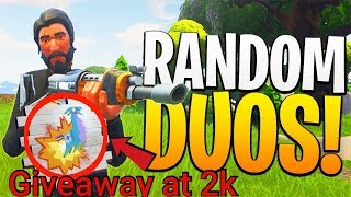 Fortnite || Random Duo's || KAB-LLAMA Spray Giveaway At 2k Subs