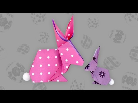 origami tiere falten 06 hase bunny doovi. Black Bedroom Furniture Sets. Home Design Ideas