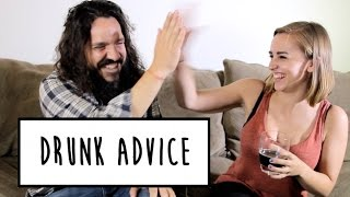 DRUNK ADVICE WITH MIKE FALZONE | Hannah Witton