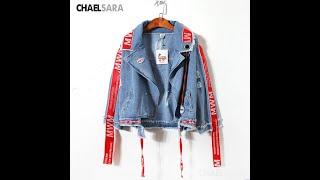 Женская джинсовая куртка в стиле хип хоп весна осень 2021 купить с Aliexpress