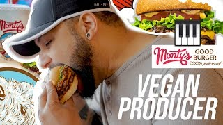 Vegan Music Producer - Curtiss King Eats At Monty's Good Burger (Riverside, CA)