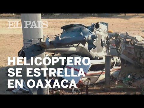 El desplome de un helicóptero militar en Oaxaca mata a 14 personas que se protegían del terremoto