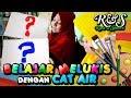 Runa & Syakira BELAJAR MELUKIS dengan CAT AIR