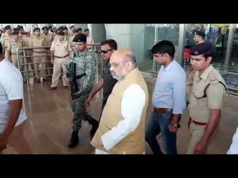 Amit Shah Reaches At Goa To Pay Last Respect To Parrikar
